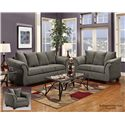 Washington Furniture 2000 Two-Seat Loveseat with Flared Armrests - Shown with Sofa