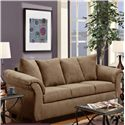 Washington Furniture 2000 Stationary Sofa - Item Number: 2000-LS Taupe
