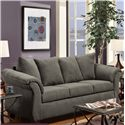 Washington Furniture 2000 Stationary Sofa - Item Number: 2000-S Graphite