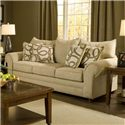 Washington Furniture 2120 Traditional Stationary Sofa - Item Number: 2120-S