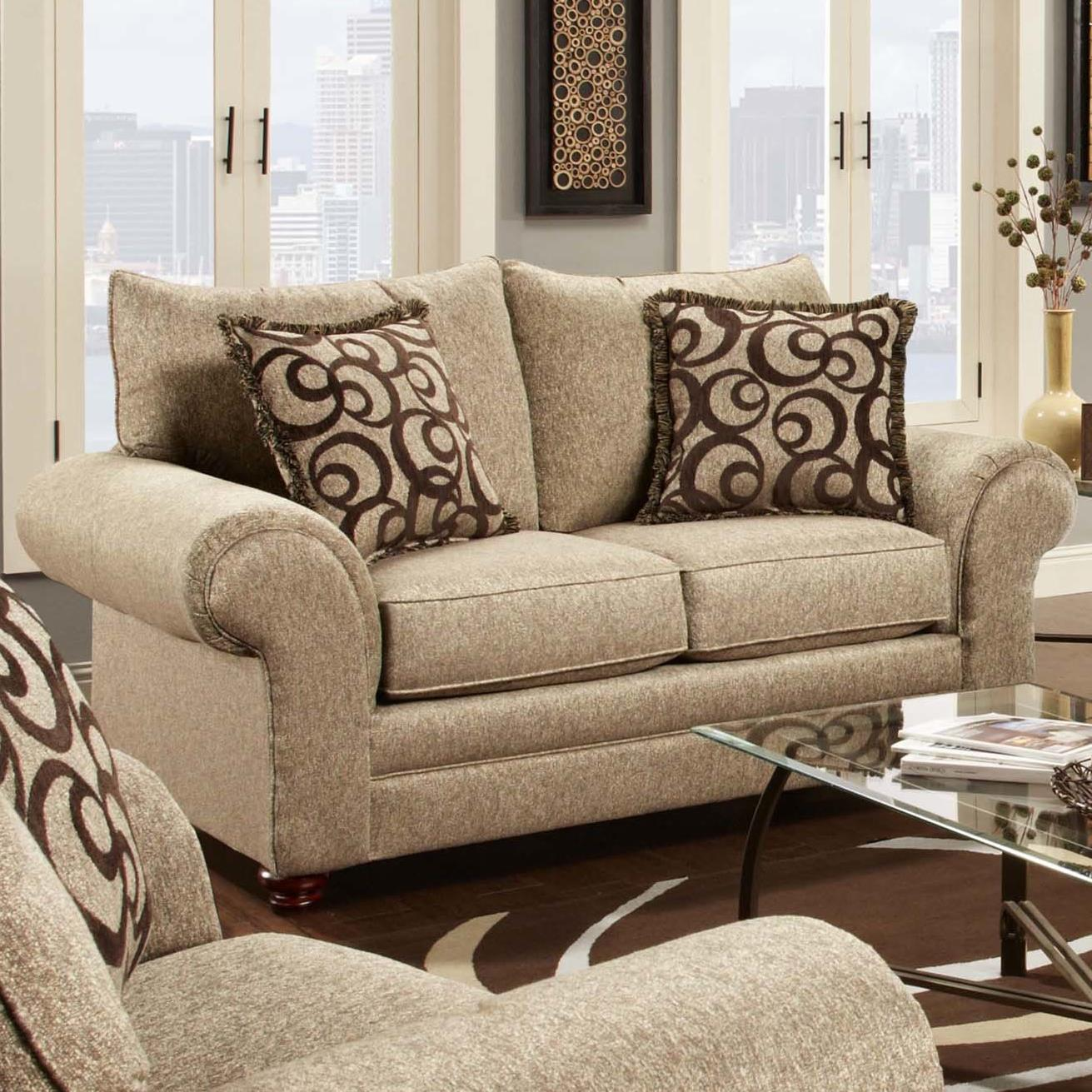 Washington Furniture 2120 Traditional Loveseat - Item Number: 2122-750 Mix Cafe