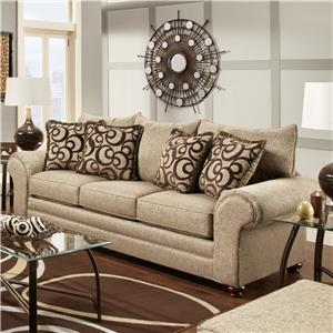 Washington Furniture 2120 Traditional Stationary Sofa