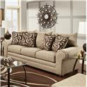 Washington Furniture 2120 Traditional Stationary Sofa - Item Number: 2123-750 Mix Cafe