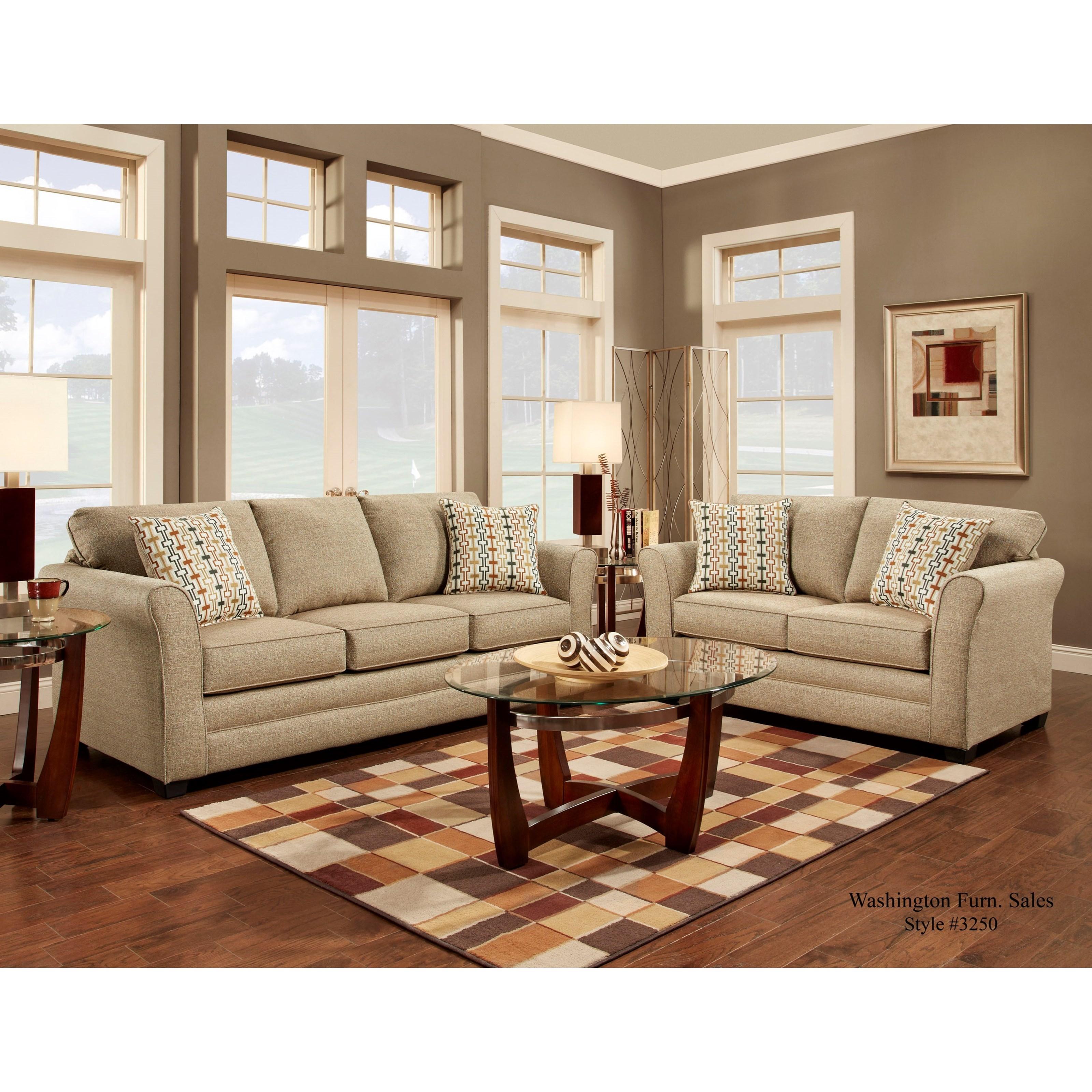 Washington Furniture 3250 Washington Living Room Group Del Sol Furniture Stationary Living