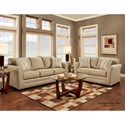 Washington Furniture 3250 Washington Contemporary Love Seat with Flare Tapered Arms