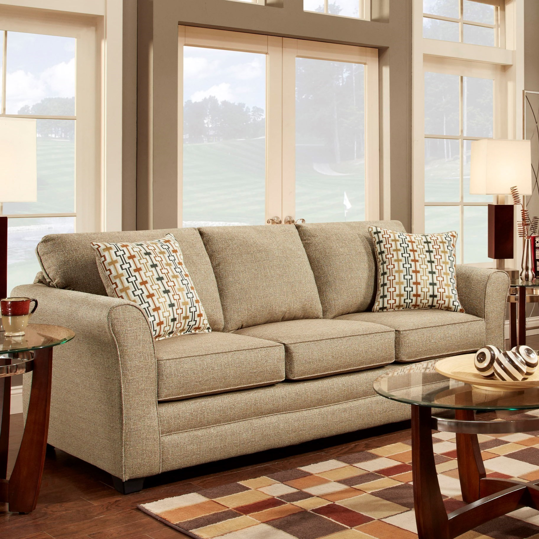 Washington 3250 Washington Contemporary Sofa With Flare Tapered Arms Bennett 39 S Home