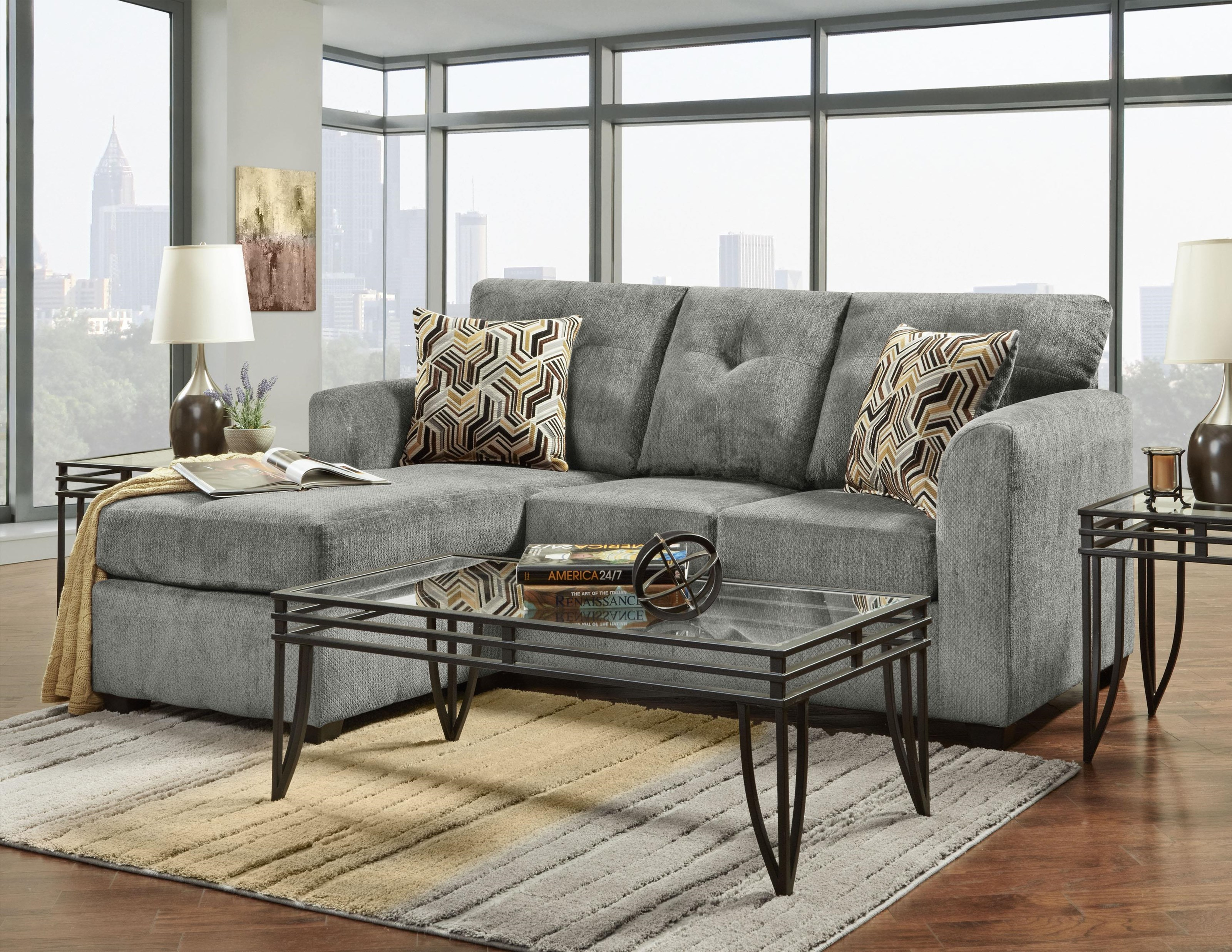 3900 Sofa Chaise by Washington Furniture at VanDrie Home Furnishings