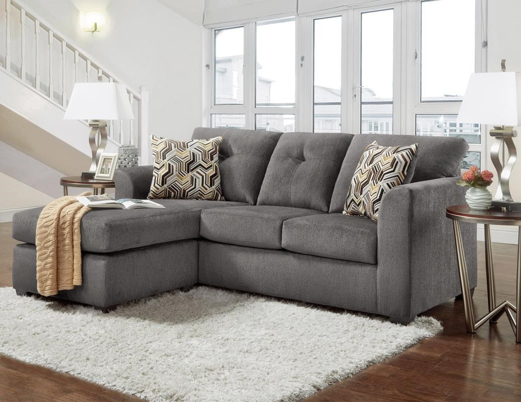 Kelly Gray Sofa with Chaise