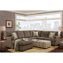 Washington Furniture 4160 Sectional with Chaise - Item Number: 4167-435+68-435 Hillel Pewter