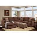 Washington Furniture 4160 Sectional with Chaise - Item Number: 4167-436+68-436
