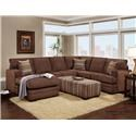 Washington Furniture 4160 2 Piece Sectional - Item Number: GRP-416X-2PC-SECTIONAL