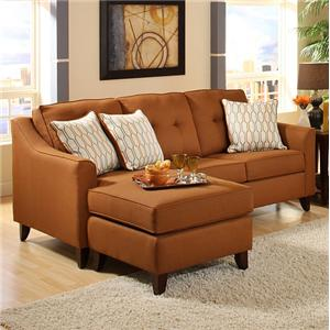 Washington Furniture 4740 Transitional Stationary Sofa