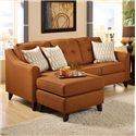 Washington Furniture 4740 Transitional Stationary Sofa with Chaise