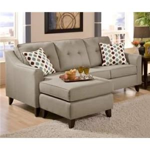 Washington Furniture 4740 Stoked Truffle Sofa with Chaise
