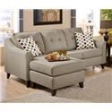 Washington Furniture 4740 Stoked Truffle Sofa with Chaise - Item Number: 4743-583