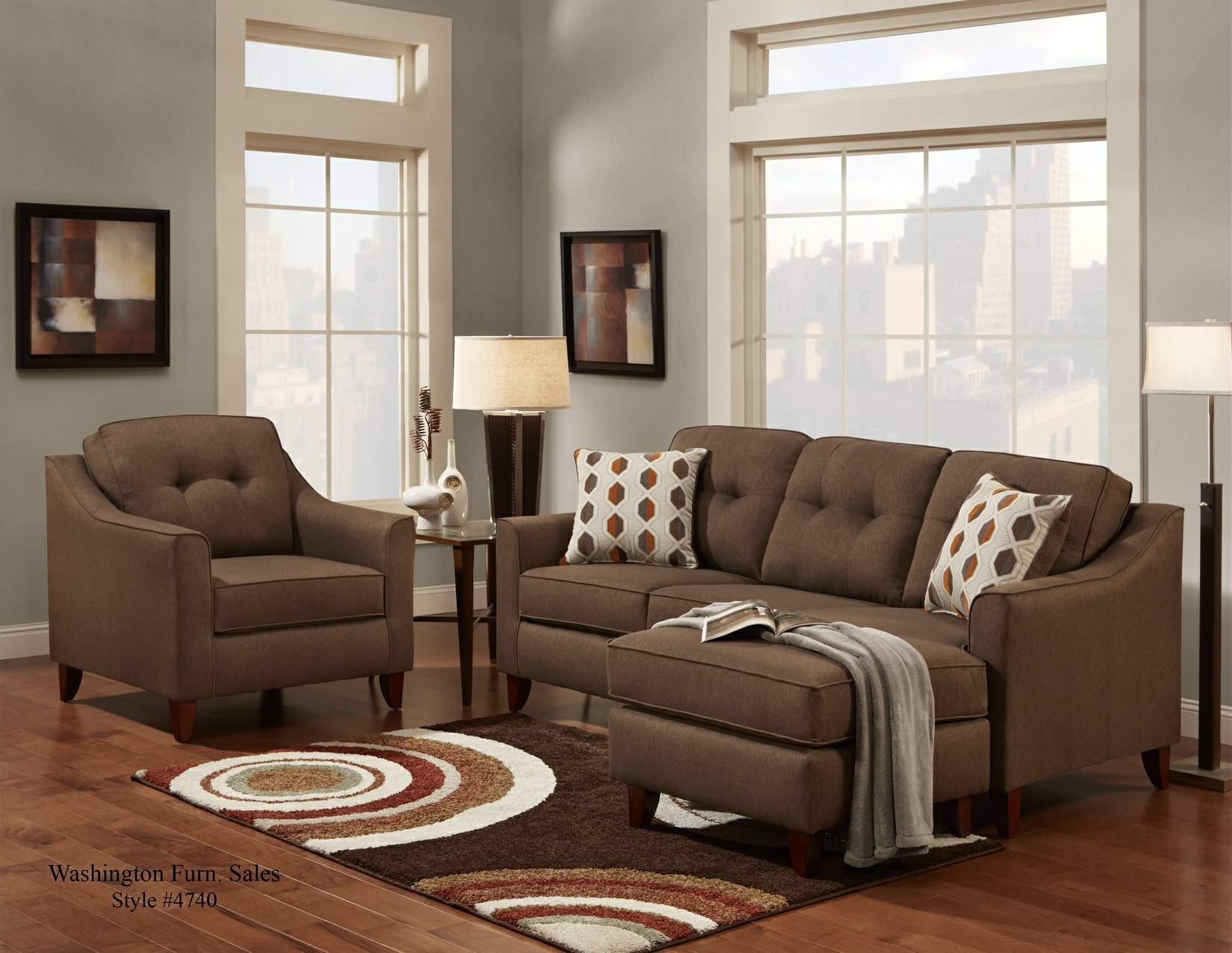 Washington Furniture Stoked Wash 4743 586 Stoked Chocolate Sofa Chaise Great American Home
