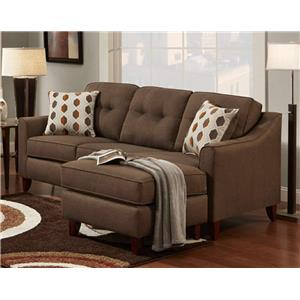 Washington Furniture Stoked Stoked Chocolate Sofa Chaise