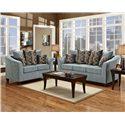 Washington Furniture 5000 Contemporary Love Seat - Shown with Sofa