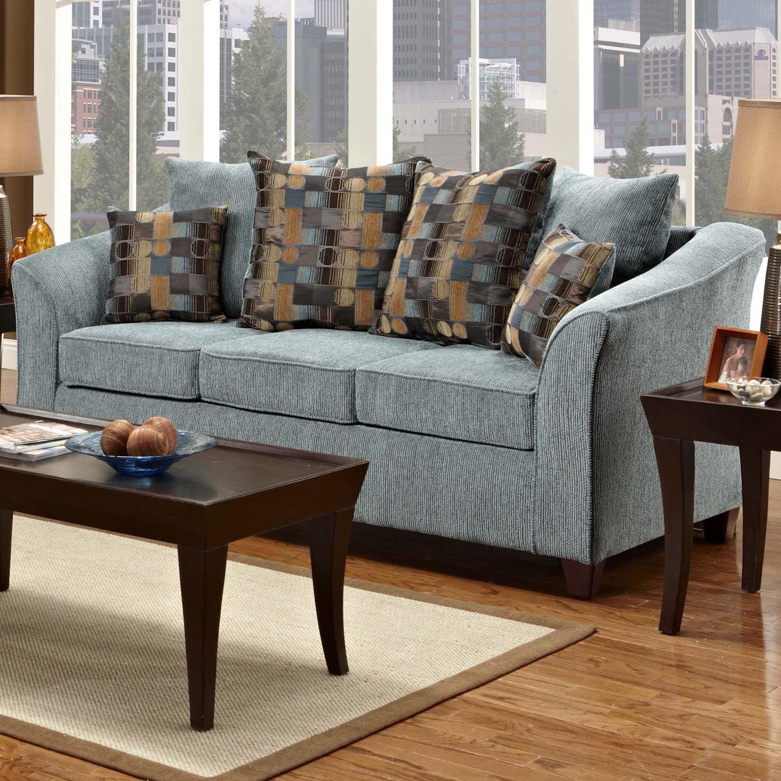 Washington Furniture 5000 Contemporary Stationary Sofa Del Sol Furniture Sofa