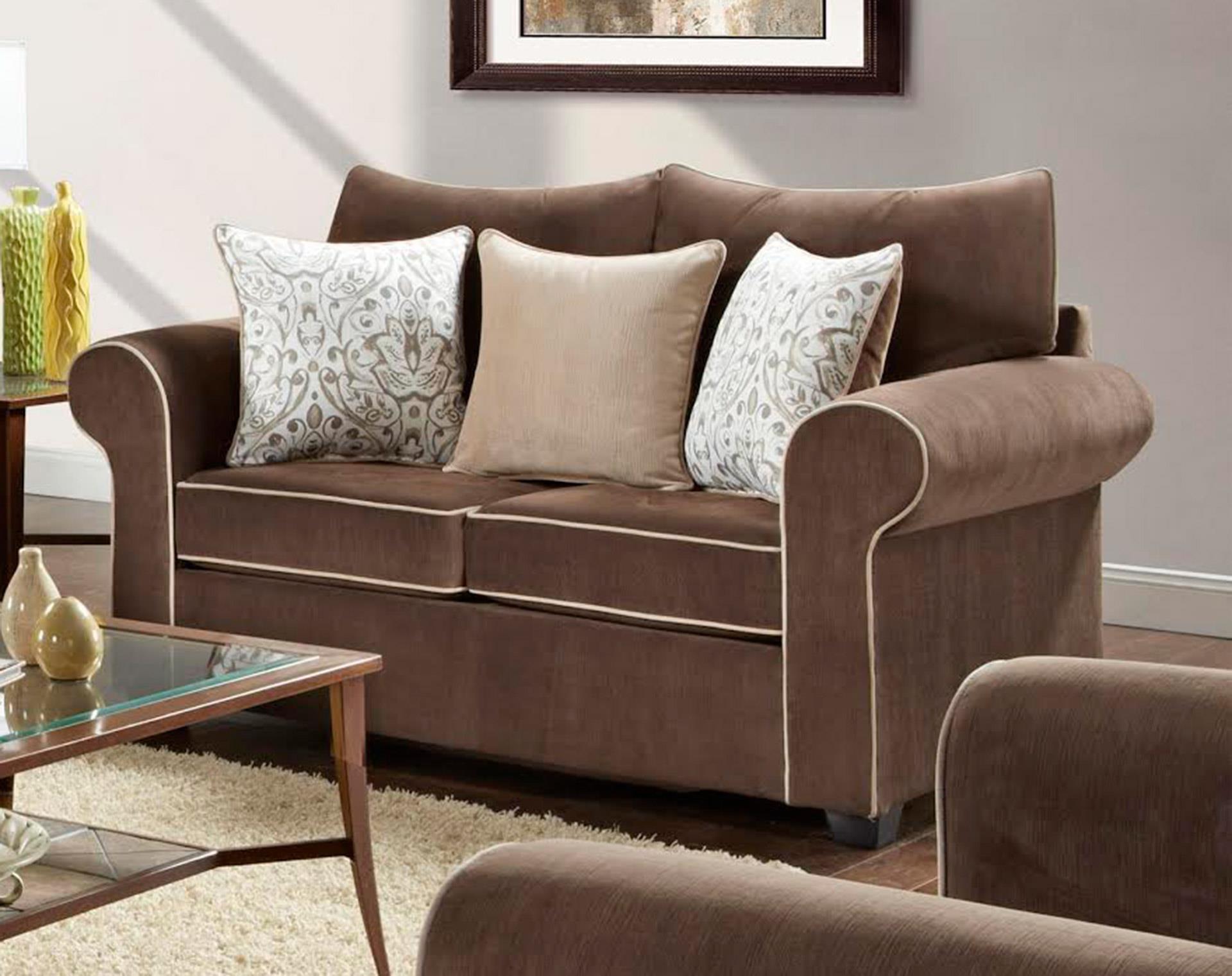 Washington Furniture 5040 Spellbound Fudge Loveseat - Item Number: 5042SPELLBOUND-FUDGE
