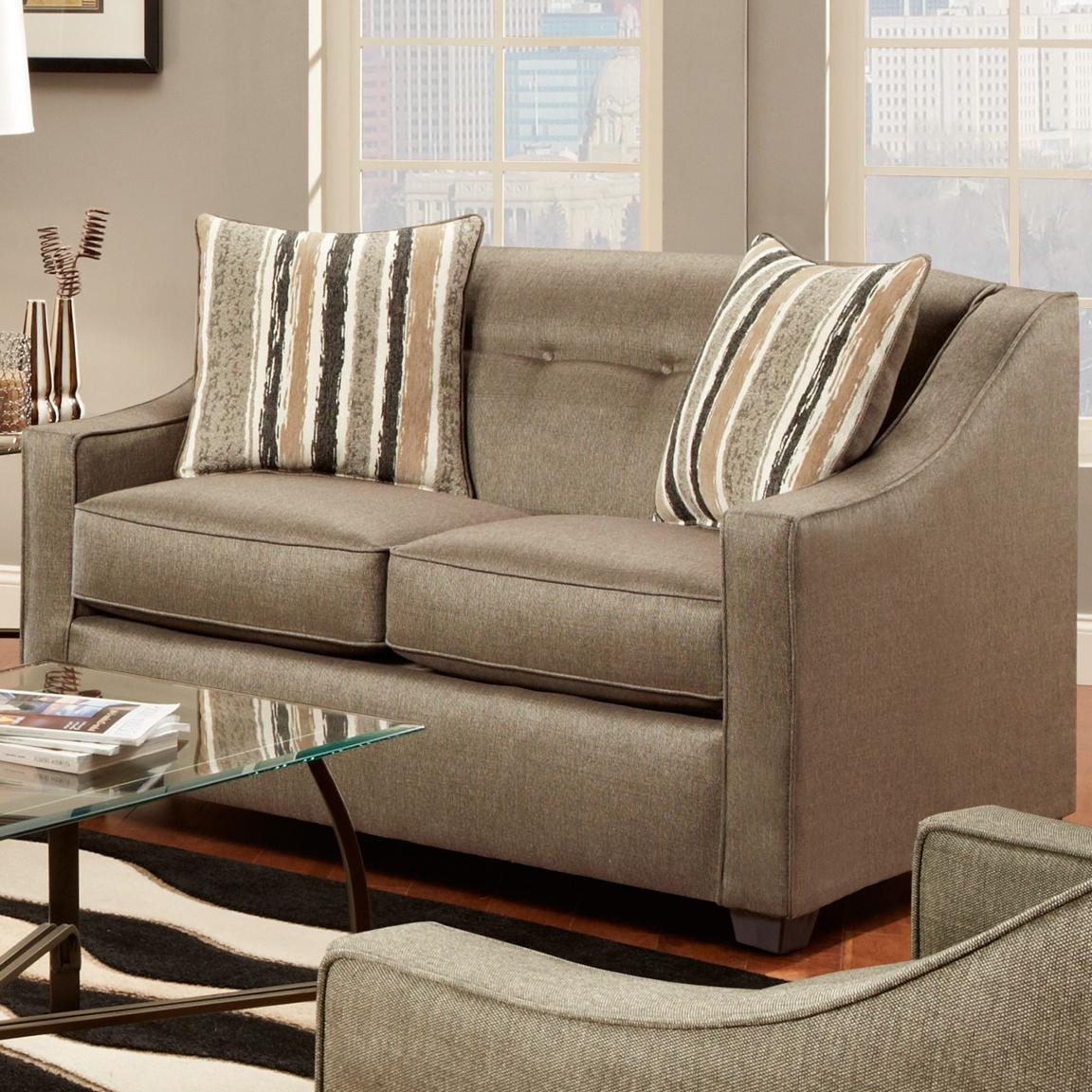 Washington Furniture Stoked Pewter Loveseat - Item Number: 5442-580