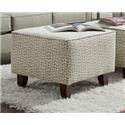 Washington Furniture Lucy Grecian Slate Accent Ottoman - Item Number: 1555 GRECIAN-SLATE