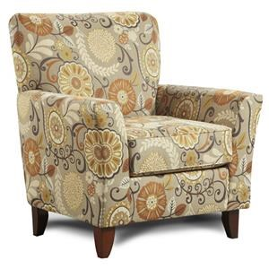 Washington Furniture Grande Badger Karina Espresso Accent Chair