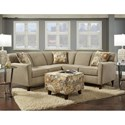 Washington Furniture 5640 Washington 4 Seat Sectional - Item Number: 5647+48