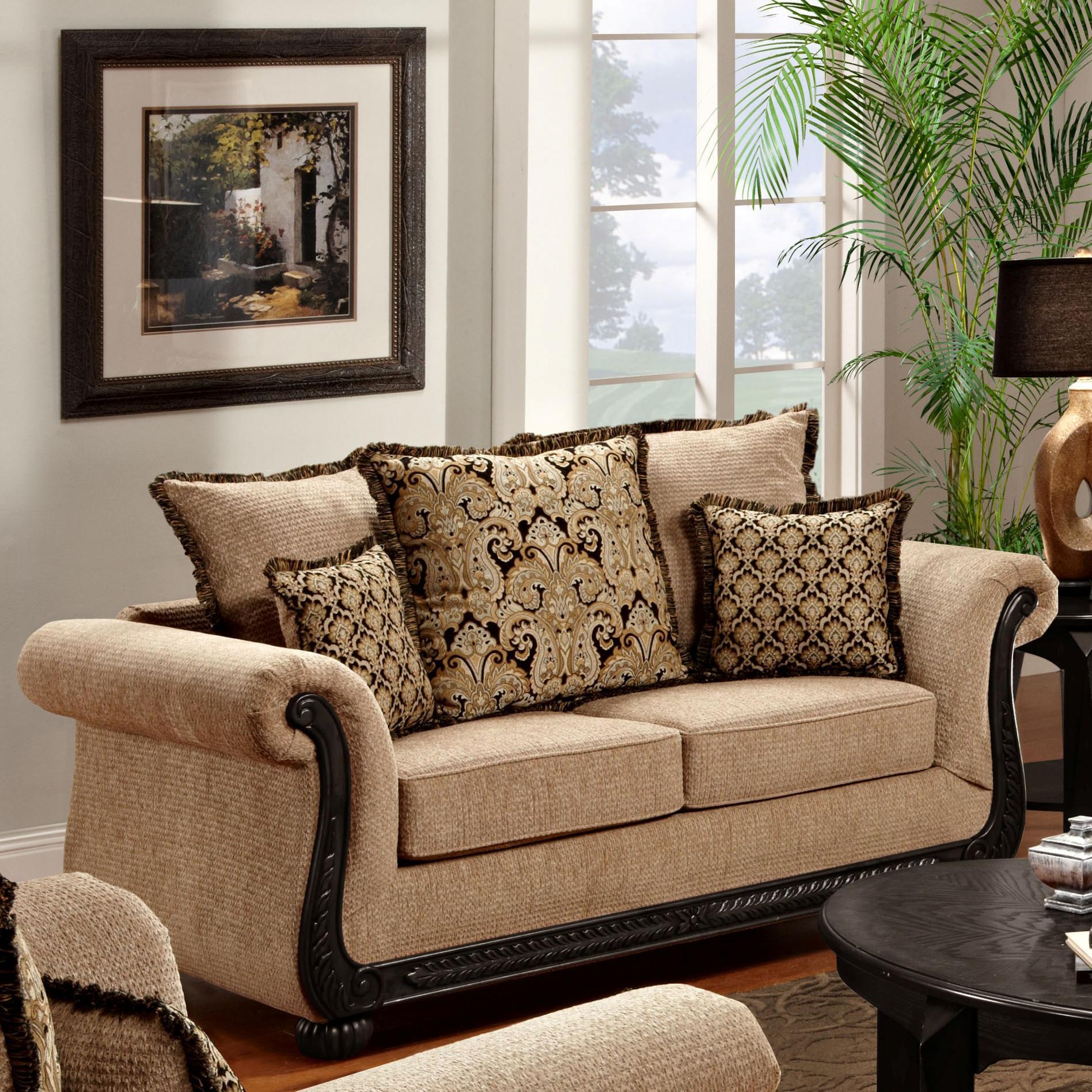 Washington Furniture 6000 Loveseat - Item Number: 6000-L