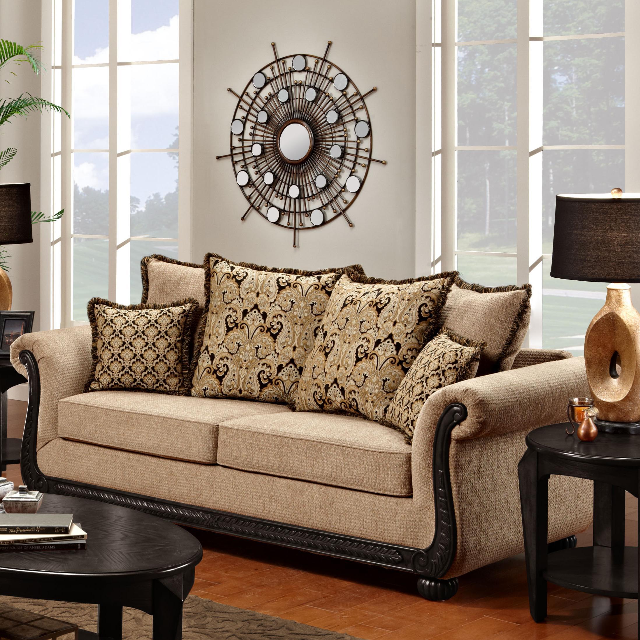 Washington Furniture 6000 Traditional Sofa - Item Number: 6000-S