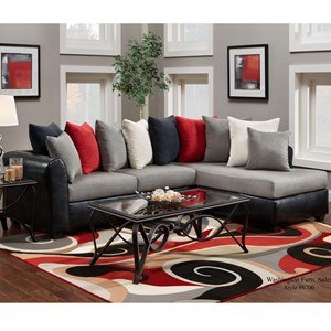Washington Furniture 6700 Sectional with RSF Chaise