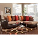Washington Furniture 6700 Sectional with RSF Chaise - Item Number: 6707+08-394-BRN