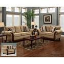 Washington Furniture 8100 Washington Stationary Living Room Group - Item Number: 8100 Living Room Group 1