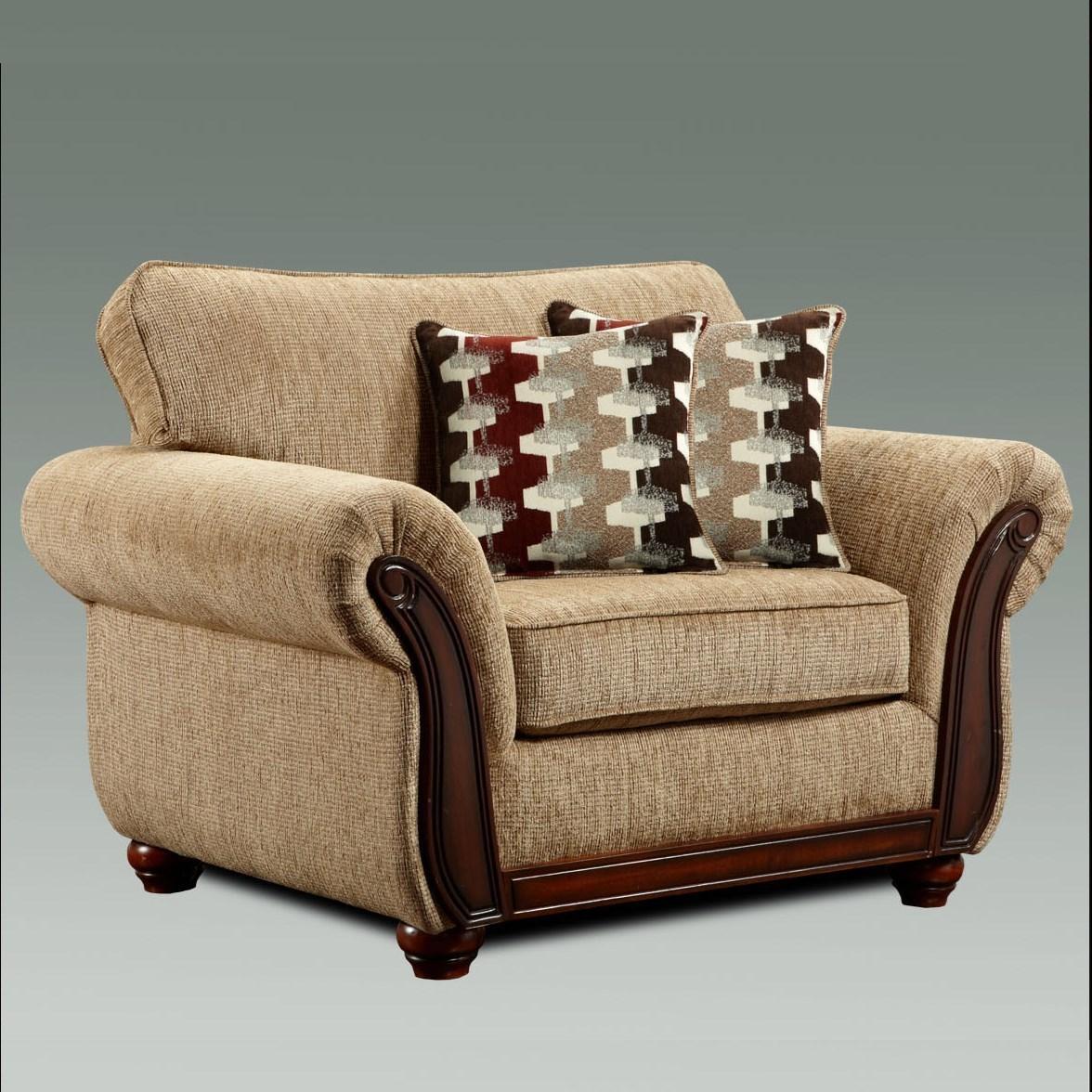 Washington Furniture 8100 Washington 8101 440 Traditional Upholstered Chair With Exposed Wood