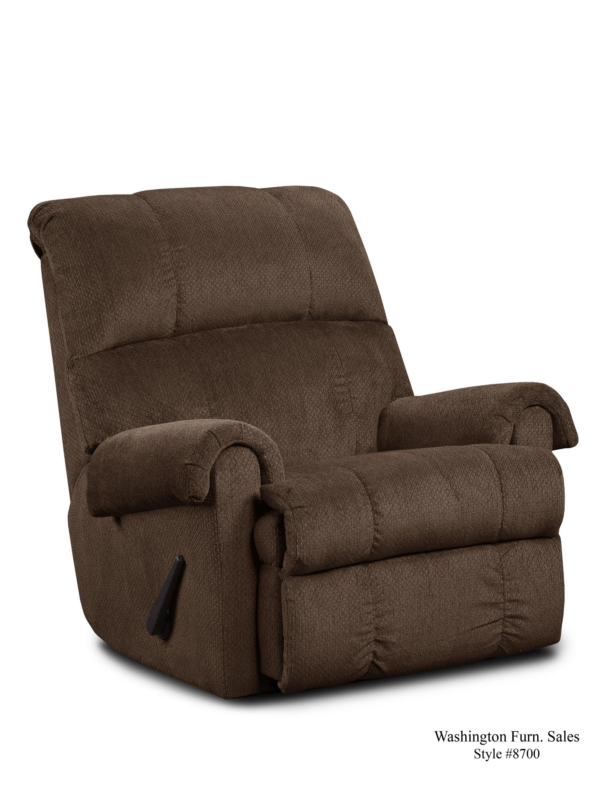 Washington Furniture 8700 KELLY Brown Recliner - Item Number: 8700 Kelly Brown