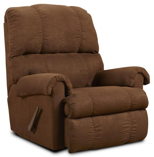 Washington Furniture Victory Flat Suede Chocolate Recliner - Item Number: 8700-112