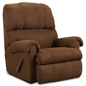 Washington Furniture Victory Flat Suede Chocolate Recliner