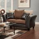 Washington Furniture 9000 Love Seat - Item Number: 9000 Love Seat Flatsuede Chocolate