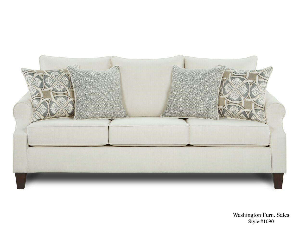 Washington Furniture 1093 Cream Sofa   Item Number: 1093 755