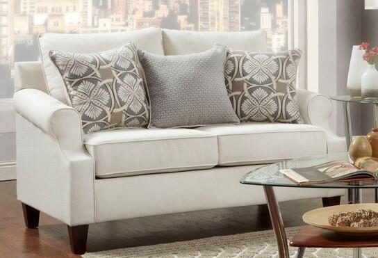 Washington Furniture 1093 Cream Loveseat - Item Number: 1093-755