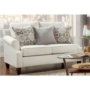 Washington Furniture 1093 Grey Loveseat