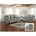 Washington Furniture 1093 Grey group shot - Item Number: Grey Group Shot