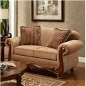 Washington Furniture Key West Umber Loveseat - Item Number: 1002-100