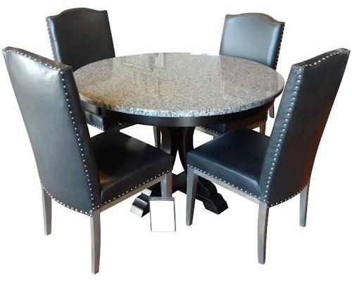 5 Pc Granite Table Set