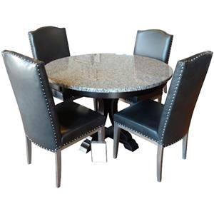 Wayside Custom Furniture Amish Clearance 5 Pc Granite Table Set