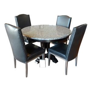 Wayside Custom Furniture One Only 5 Pc Granite Table Set