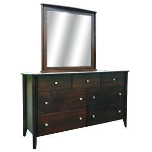Wayside Custom Furniture Casual Dresser and Mirror
