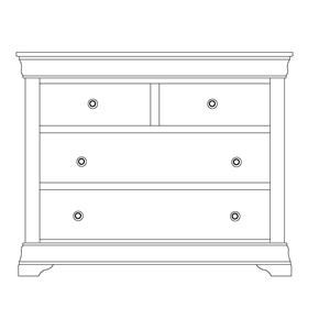 Wayside Custom Furniture Chateau Single Dresser