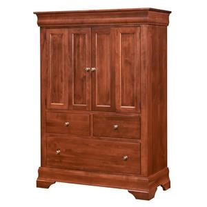 Wayside Custom Furniture Chateau Armoire 2 Door, 3 Drawers