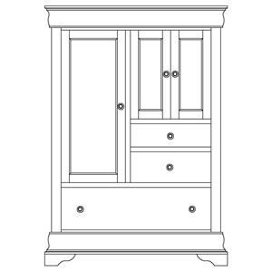 Armoire 3 Door, 3 Drawer